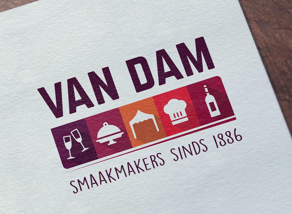 Logo Catering- en Partyservice Van Dam