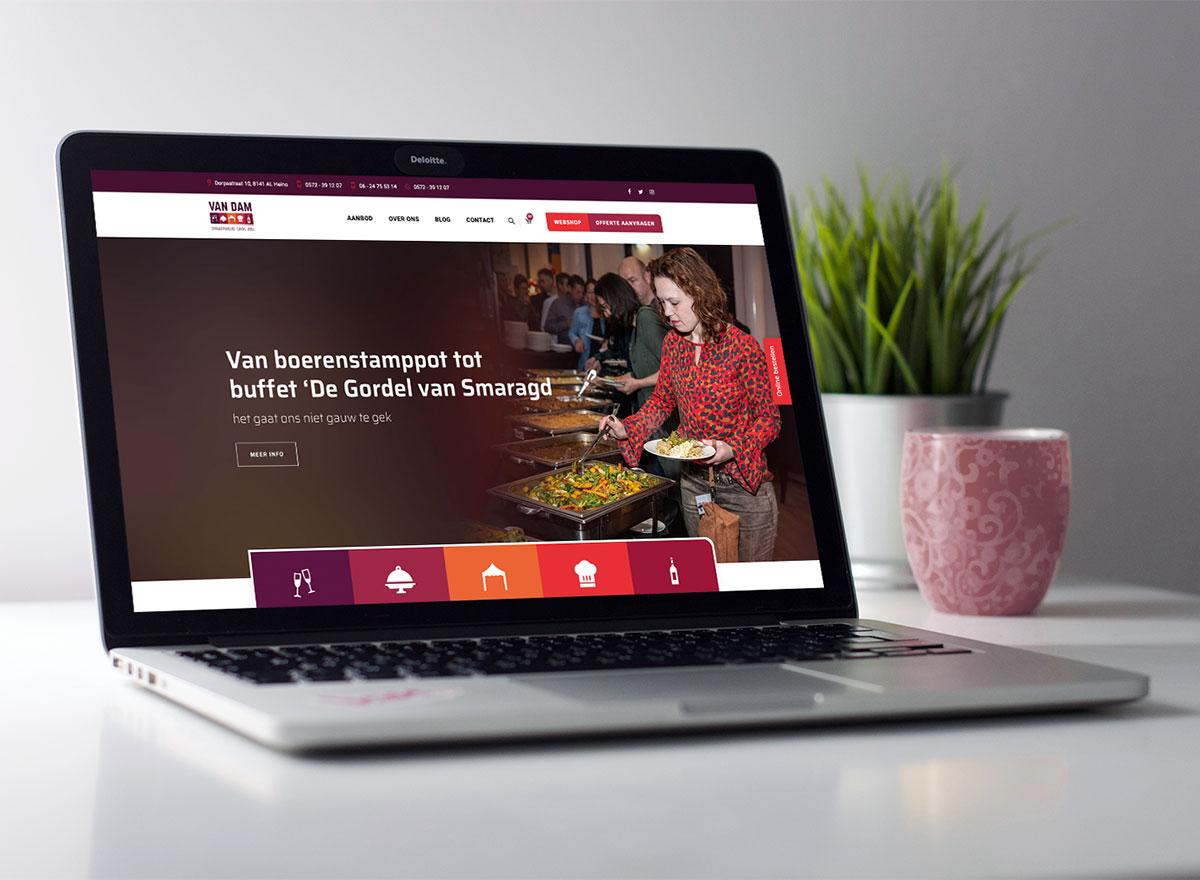 Website Catering- en Partyservice Van Dam
