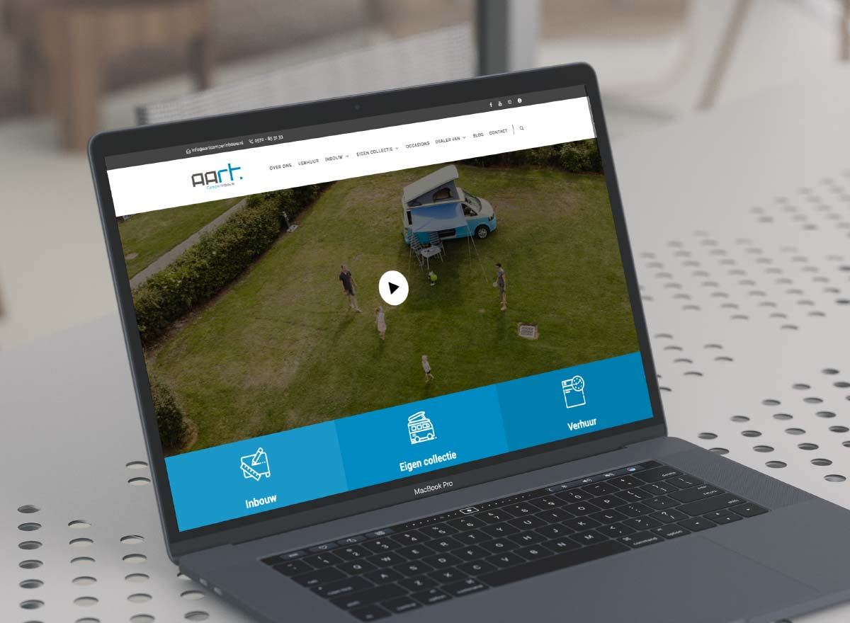 Aart Camperinbouw website